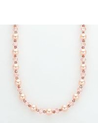 Sterling Silver Dyed Shell Pearl Crystal Necklace