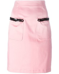 Love Moschino Chain Trim Pencil Skirt