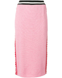 MSGM Knit Branded Pencil Skirt