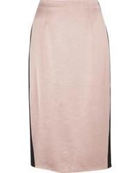 River Island Light Pink Side Stripe Pencil Skirt