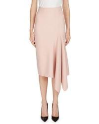 Roland Mouret Morpeth Crepe Pencil Skirt W Asymmetric Side Drape