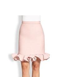 Valentino Voulant Hem Skirt Pink