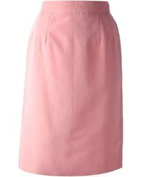 Lanvin Vintage High Waisted Pencil Skirt