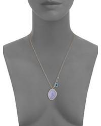 Meira T Diamond Opal 14k Rose Gold Pendant Necklace
