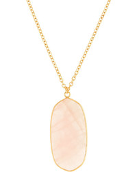 Panacea Long Stone Pendant Necklace Light Pink