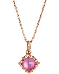 Stephen Webster Superstud Pink Quartz Doublet Pendant Necklace