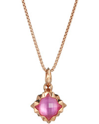 Stephen Webster Superstud Pink Quartz Doublet Pendant Necklace