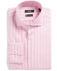 Slim fit plaid dress shirt medium 1247574
