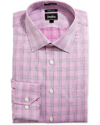 Pink Plaid Long Sleeve Shirts for Men | Men's Fashion