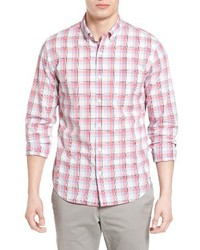 Summerweight slim fit plaid sport shirt medium 4017107