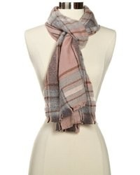 Echo Design M Soft Boucle Plaid Woven Scarf