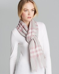 Burberry Giant Check Woolsilk Gauze Scarf