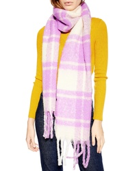 Topshop Heavy Plaid Bright Scarf