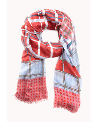 Forever 21 Rustic Mixed Plaid Scarf