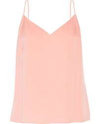 Elizabeth and James Posie Pleated Stretch Silk Chiffon Camisole Pastel Pink