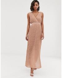 Y.a.s Pleated Wrap Maxi Dress