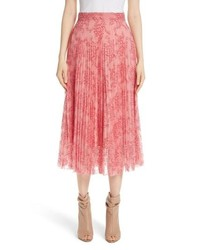Burberry Wilton Pleated Lace Skirt