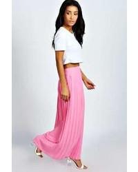 Boohoo Kadie Pleated Woven Maxi Skirt