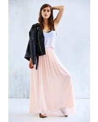 Alice & You Light Pink Pleated Maxi Skirt | Where to buy & how to wear