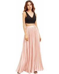 Pleated full length skirt medium 6989619