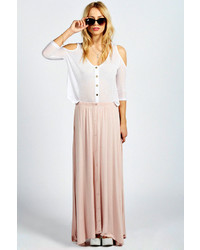 Boohoo Ruby 90s Grunge Style Button Front Maxi Skirt