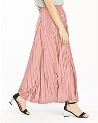 Wet look sunray pleat maxi skirt medium 6989618