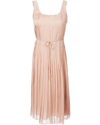 Burberry Brit Pleated Ribbon Detail Dress