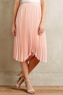 Anthropologie Meadow Rue Scalloped Pleats Midi Skirt | Where to ...