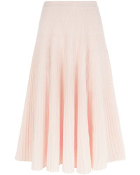 Cédric Charlier Cedric Charlier Light Pink Ribbed Knit Skirt