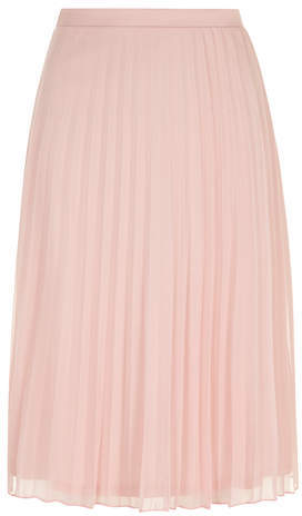Dorothy Perkins Dusty Pink Mesh Pleated Midi Skirt | Where to buy ...