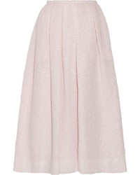 Rochas Pleated Cloqu Midi Skirt