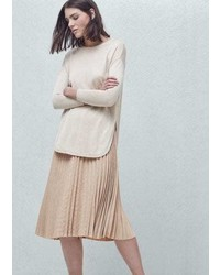 Mango Outlet Pleated Midi Skirt