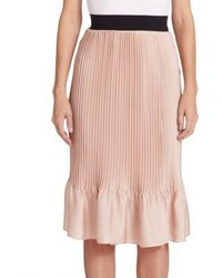 Tome Pleated Satin Skirt