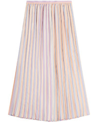 Marco De Vincenzo Pleated Silk Skirt
