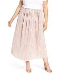 Sejour Plus Size Crinkle Midi Skirt