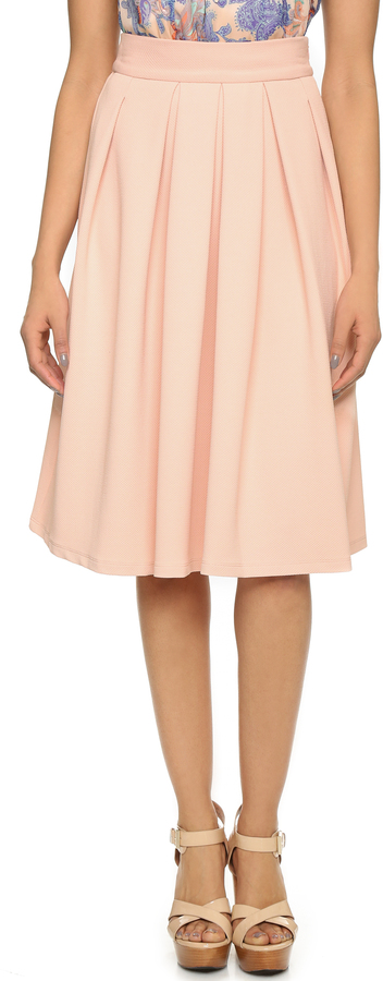wayf pleated midi skirt where to buy how to wear
