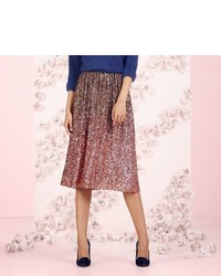 Lc lauren conrad runway collection sequin ombre midi skirt medium 356948