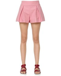 RED Valentino Stretch Cotton Pleated Shorts