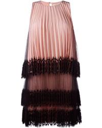 Christopher Kane Pleated Tulle Mini Dress