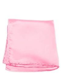 Jacob Alexander Solid Color Pocket Square By Carnation Pink