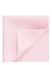 Thomas Pink Border Print Pocket Square