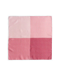 Pink Polka Dot Pocket Square
