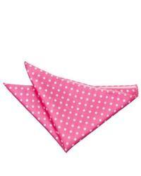 DQT Polka Dot Hot Pink Handkerchief Pocket Square