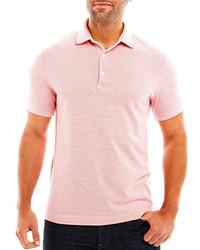 Claiborne 2 Tone Piqu Polo Shirt