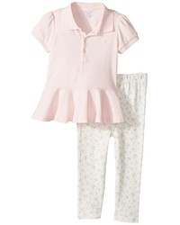 Ralph Lauren Baby Cotton Polo Leggings Set Girls Active Sets