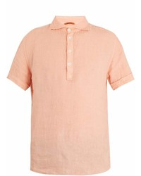 Barena Venezia Point Collar Short Sleeved Linen Polo Shirt