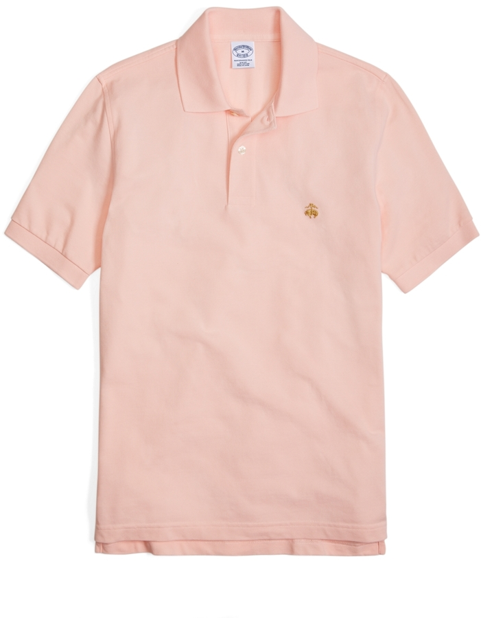ccb1f507a ... Brooks Brothers Golden Fleece Slim Fit Performance Polo Shirt Basic  Colors ...