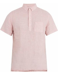 Onia Josh Short Sleeved Linen Polo Shirt
