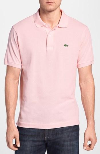 Lacoste L1212 Pique Polo Pink 8,  89   Nordstrom   Lookastic.com 65ef7cd874