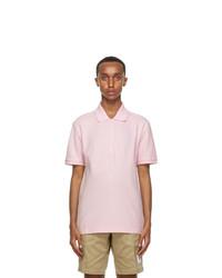 Thom Browne Pink 4 Bar Stripe Polo
